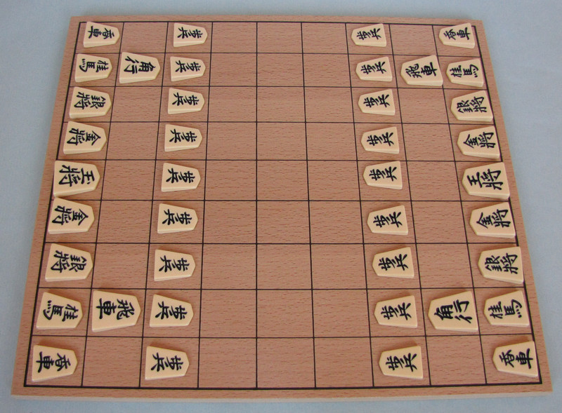 Shogi - japonské šachy - dřevěná deska