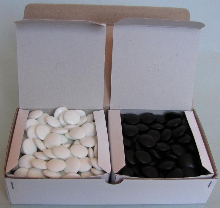 Skleněné kameny, 8 mm, 180+180