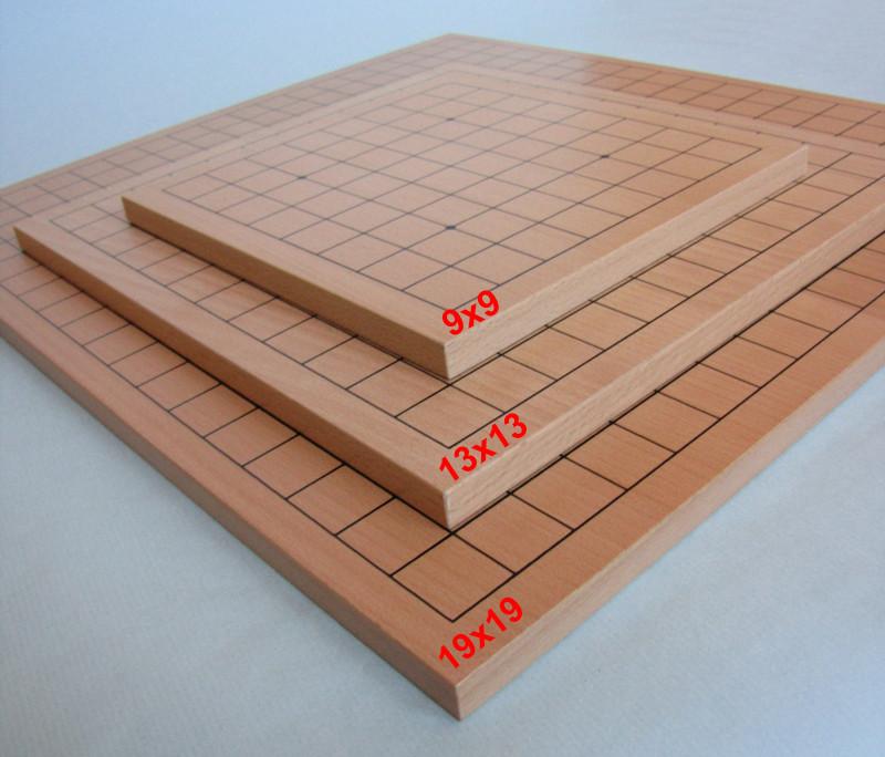 Dřevěná deska skládací s magnetem, jednostranná 19x19